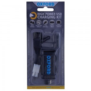 Oxford USB lader (2,1 Amp) - High Power USB Charging Kit