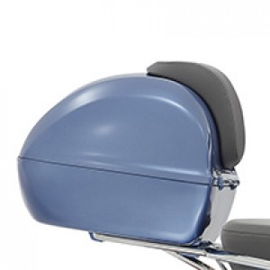 Topkoffer vespa blauw zonder rugsteun